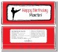 Karate Kid - Personalized Birthday Party Candy Bar Wrappers thumbnail