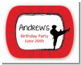 Karate Kid - Personalized Birthday Party Rounded Corner Stickers thumbnail