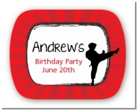 Karate Kid - Personalized Birthday Party Rounded Corner Stickers