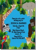 King of the Jungle Safari - Baby Shower Invitations