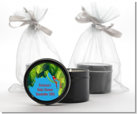 King of the Jungle Safari - Baby Shower Black Candle Tin Favors