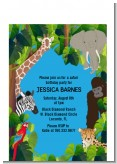 King of the Jungle Safari - Baby Shower Petite Invitations