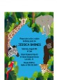 King of the Jungle Safari - Baby Shower Petite Invitations thumbnail