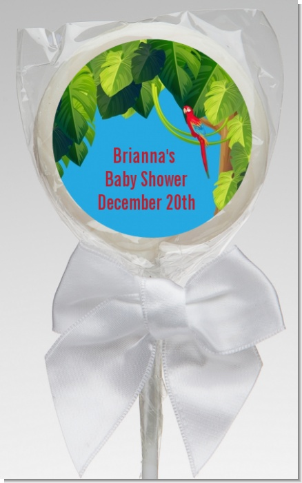 King of the Jungle Safari - Personalized Baby Shower Lollipop Favors