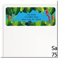 King of the Jungle Safari - Baby Shower Return Address Labels