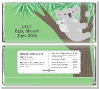 Koala Bear - Personalized Baby Shower Candy Bar Wrappers
