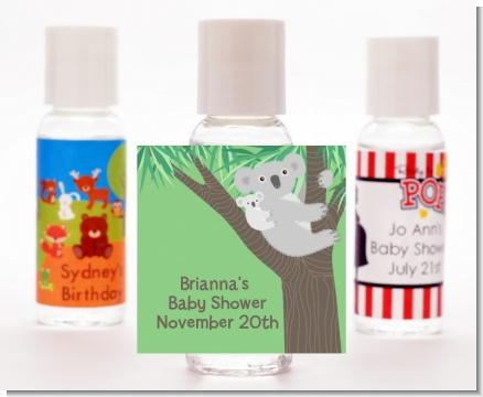 Koala Bear - Personalized Baby Shower Hand Sanitizers Favors