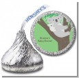 Koala Bear - Hershey Kiss Baby Shower Sticker Labels thumbnail