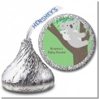 Koala Bear - Hershey Kiss Baby Shower Sticker Labels