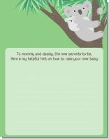 Koala Bear - Baby Shower Notes of Advice