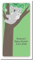 Koala Bear - Custom Rectangle Baby Shower Sticker/Labels