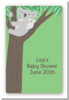 Koala Bear - Custom Large Rectangle Baby Shower Sticker/Labels