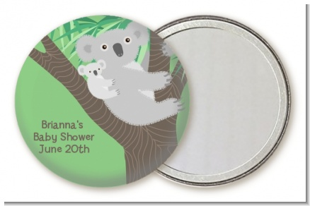 Koala Bear - Personalized Baby Shower Pocket Mirror Favors