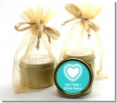 Lace of Hearts - Bridal Shower Gold Tin Candle Favors