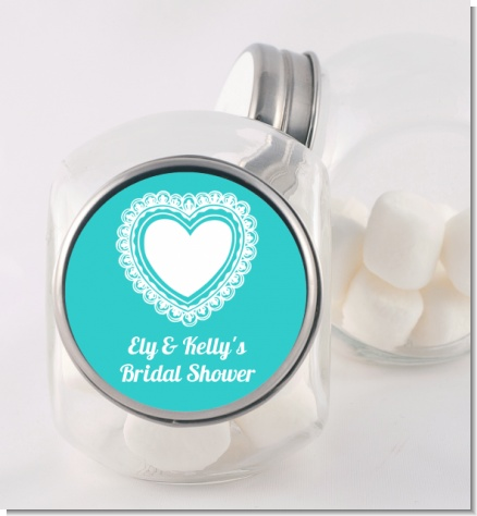 Lace of Hearts - Personalized Bridal Shower Candy Jar
