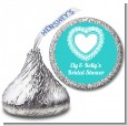 Lace of Hearts - Hershey Kiss Bridal Shower Sticker Labels thumbnail