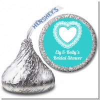 Lace of Hearts - Hershey Kiss Bridal Shower Sticker Labels