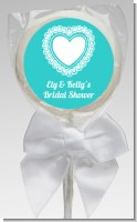 Lace of Hearts - Personalized Bridal Shower Lollipop Favors