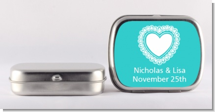 Lace of Hearts - Personalized Bridal Shower Mint Tins