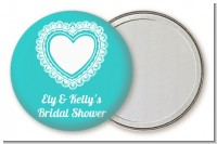 Lace of Hearts - Personalized Bridal Shower Pocket Mirror Favors