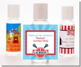 Lacrosse - Personalized Birthday Party Hand Sanitizers Favors