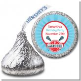 Lacrosse - Hershey Kiss Birthday Party Sticker Labels