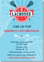 Lacrosse - Birthday Party Invitations