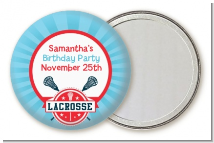 Lacrosse - Personalized Birthday Party Pocket Mirror Favors