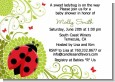 Ladybug - Baby Shower Invitations thumbnail