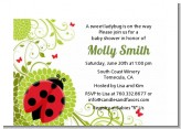 Ladybug - Baby Shower Petite Invitations