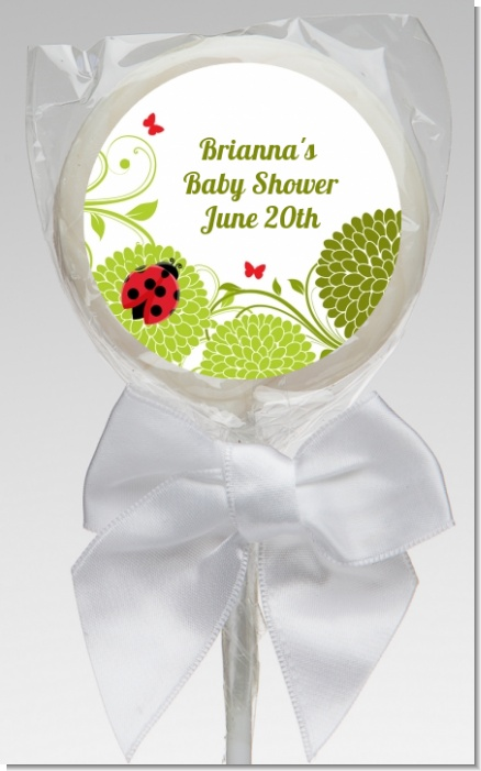Ladybug - Personalized Baby Shower Lollipop Favors