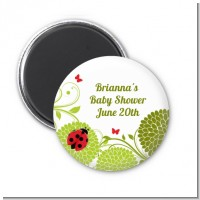 Ladybug - Personalized Baby Shower Magnet Favors