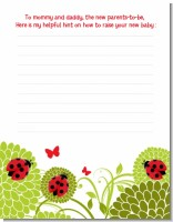 Ladybug - Baby Shower Notes of Advice