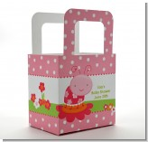 Modern Ladybug Pink - Personalized Birthday Party Favor Boxes