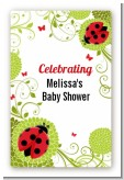 Ladybug - Custom Large Rectangle Baby Shower Sticker/Labels