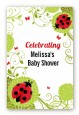 Ladybug - Custom Large Rectangle Baby Shower Sticker/Labels thumbnail