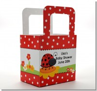 Modern Ladybug Red - Personalized Baby Shower Favor Boxes