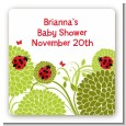 Ladybug - Square Personalized Baby Shower Sticker Labels thumbnail
