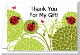 Ladybug - Baby Shower Thank You Cards
