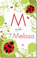 Ladybug - Personalized Baby Shower Nursery Wall Art