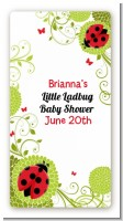 Ladybug - Custom Rectangle Baby Shower Sticker/Labels
