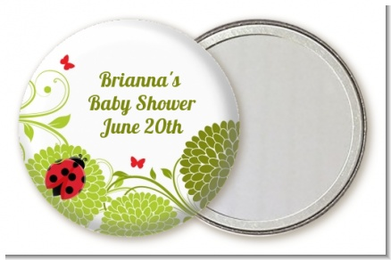 Ladybug - Personalized Baby Shower Pocket Mirror Favors