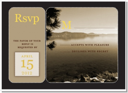 Lake Tahoe - Bridal Shower RSVP Cards
