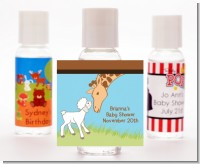 Lamb & Giraffe - Personalized Baby Shower Hand Sanitizers Favors