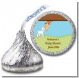 Lamb & Giraffe - Hershey Kiss Baby Shower Sticker Labels thumbnail