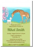 Lamb & Giraffe - Baby Shower Petite Invitations
