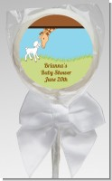Lamb & Giraffe - Personalized Baby Shower Lollipop Favors