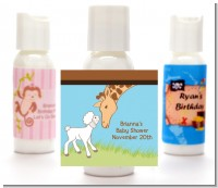 Lamb & Giraffe - Personalized Baby Shower Lotion Favors