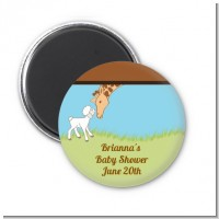 Lamb & Giraffe - Personalized Baby Shower Magnet Favors