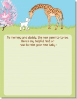 Lamb & Giraffe - Baby Shower Notes of Advice